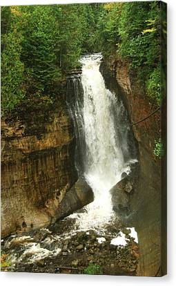 Miners Falls Canvas Print by Michael Peychich