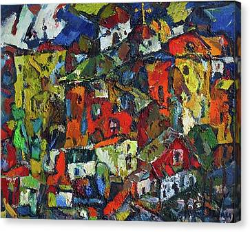 Miners' Little Town Canvas Print by Ivan Filichev