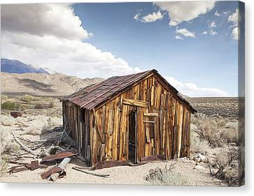 Miner's Shack In Benton Hot Springs Canvas Print