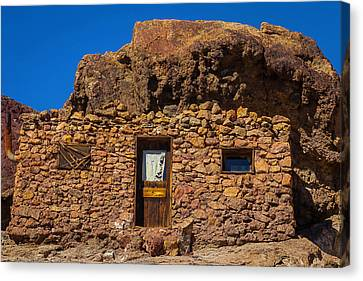 Miners Stone Shack Canvas Print by Garry Gay