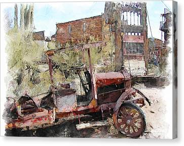 Miners Truck Canvas Print by Dale Stillman