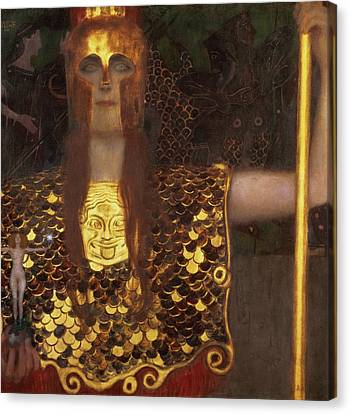 1918 Canvas Print - Minerva by Gustav Klimt