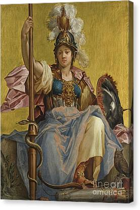 Minerva Canvas Print by Johan Sylvius