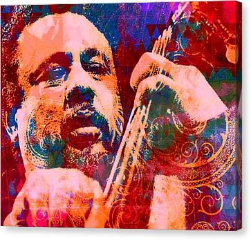 Avant Garde Jazz Canvas Print - Mingus  by Brian Broadway