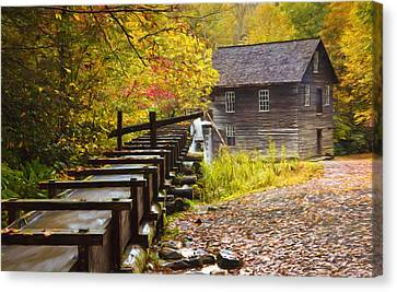 Mingus Mill Painted Canvas Print