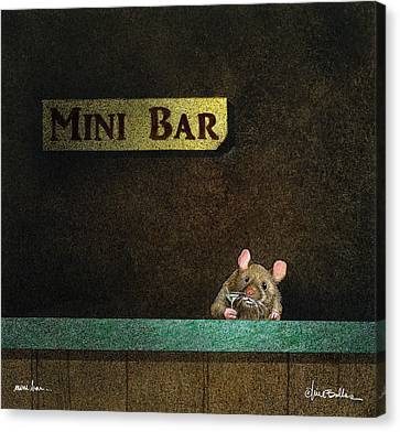 Canvas Print featuring the painting Mini Bar... by Will Bullas