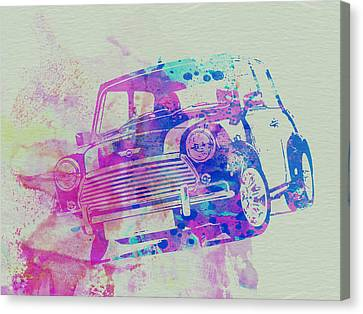 Mini Cooper Canvas Print by Naxart Studio