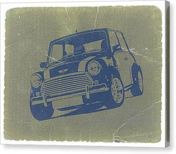 Mini Canvas Print - Mini Cooper by Naxart Studio
