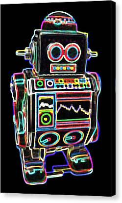 Mini D Robot Canvas Print by DB Artist