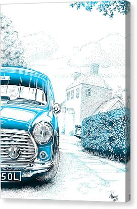 Mini On Drive Canvas Print