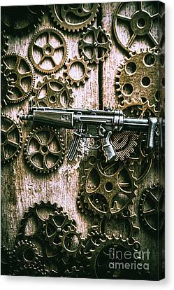 Miniature Mp5 Submachine Gun Canvas Print by Jorgo Photography - Wall Art Gallery