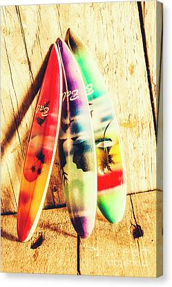Miniature Surfboard Decorations Canvas Print