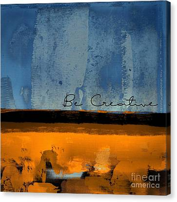 Minima - Be Creative 01b- Bo Canvas Print by Variance Collections