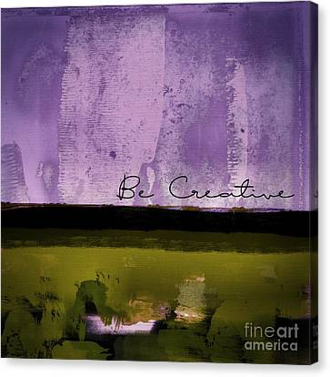 Minima - Be Creative - Bc1pgv3 Canvas Print by Variance Collections