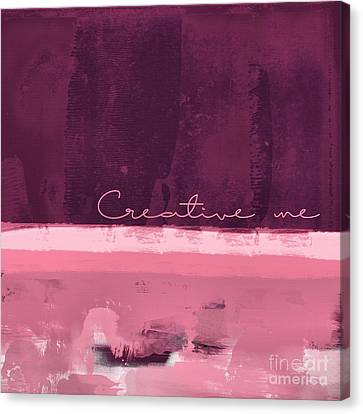 Minima - Creative Me - R01at55 - Pinks Canvas Print by Variance Collections