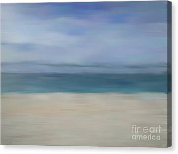 Canvas Print featuring the photograph Minimal Beach by Andrea Anderegg