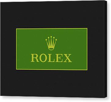 Clockmaker Canvas Print - Minimal Rolex Logo by Dan Sproul