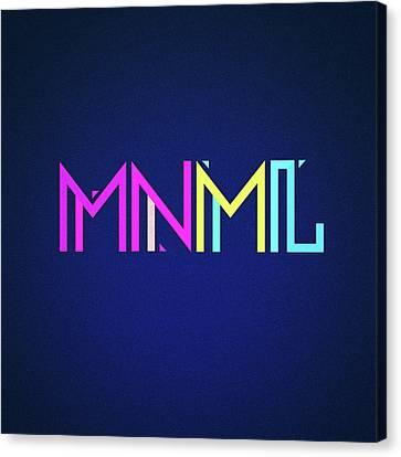 Minimal Type Colorful Edm Typography   Design Canvas Print