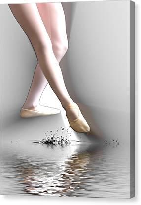 Minimalist Ballet Canvas Print by Angel Jesus De la Fuente
