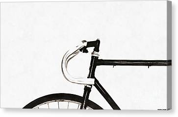 Minimalist Bicycle Painting Canvas Print by Edward Fielding