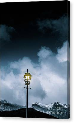 Minimalist Cold Winter Lamppost Canvas Print by Jorgo Photography - Wall Art Gallery