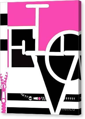 Minimalist Love Word Fashion Print Canvas Print by WALL ART and HOME DECOR