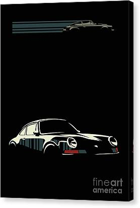 Canvas Print - Minimalist Porsche by Sassan Filsoof
