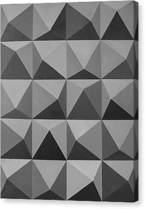 Forming Stones Canvas Print - Minimalist Wall Decor Black And White by Magdalena Walulik