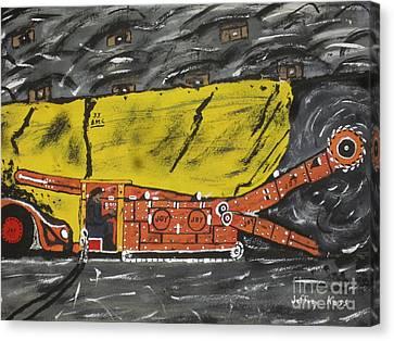 Coal Mining  Canvas Print by Jeffrey Koss