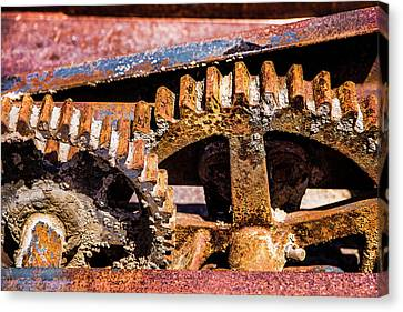 Mining Gears Canvas Print by Onyonet  Photo Studios