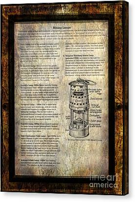 Mining Lamps Canvas Print by Adrian Evans