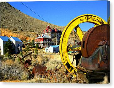 Canvas Print featuring the photograph Mining Machinery by Lynn Bawden