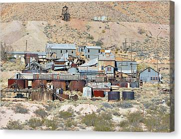 Mining Town Canvas Print by Larry Holt