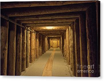 Canvas Print featuring the photograph Mining Tunnel by Juli Scalzi