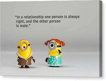Minion Quote 17 Canvas Print