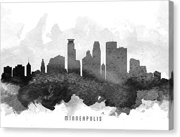 Minneapolis Cityscape 11 Canvas Print by Aged Pixel