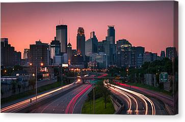 Minneapolis In Motion Canvas Print by Josh Eral