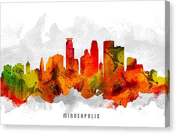 Minneapolis Minnesota Cityscape 15 Canvas Print by Aged Pixel