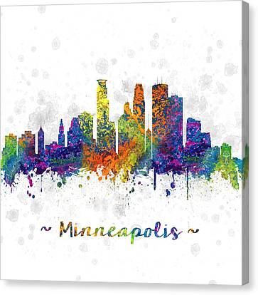 Minneapolis Minnesota Color 03sq Canvas Print by Aged Pixel