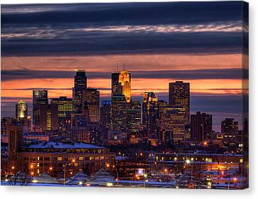 Minneapolis Skyline Canvas Print by Shawn Everhart