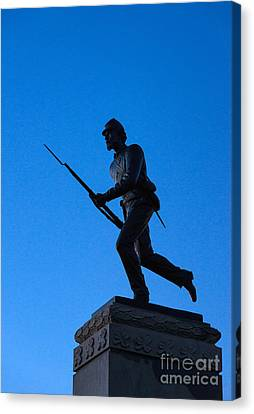Minnesota Soldier Monument At Gettysburg Canvas Print by John Greim