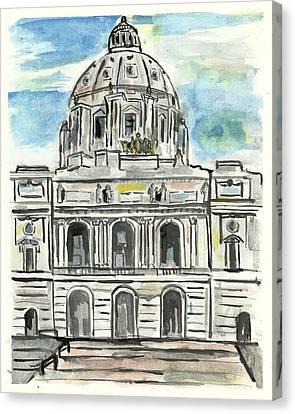 Minnesota State Capital Canvas Print by Matt Gaudian