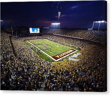 Minnesota Tcf Bank Stadium Canvas Print by University of Minnesota