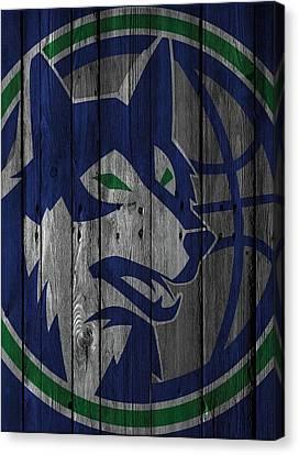 Minnesota Timberwolves Wood Fence Canvas Print by Joe Hamilton