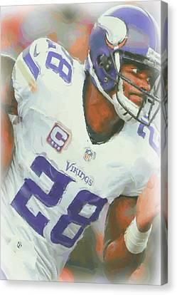 Peterson Canvas Print - Minnesota Vikings Adrian Peterson 5 by Joe Hamilton