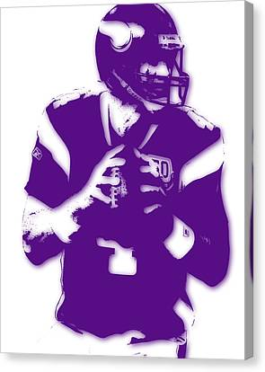 Minnesota Vikings Bret Favre Canvas Print by Joe Hamilton