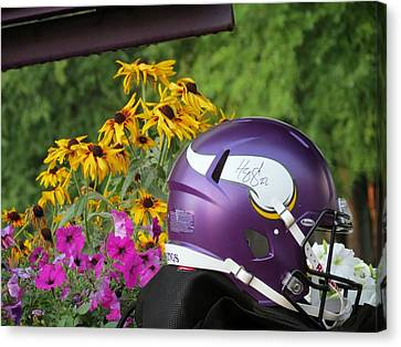 Minnesota Vikings Helmet Canvas Print by Kyle West