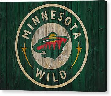 Minnesota Wild Graphic Barn Door Canvas Print