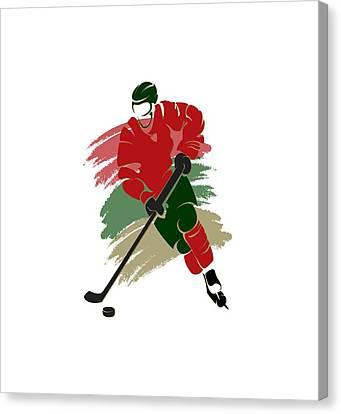 Minnesota Wild Player Shirt Canvas Print by Joe Hamilton