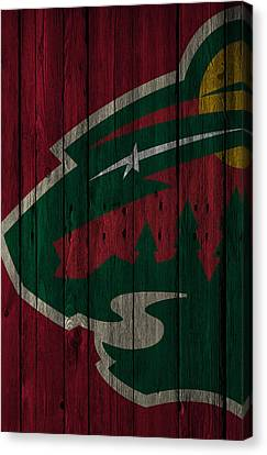 Minnesota Wild Wood Fence Canvas Print by Joe Hamilton